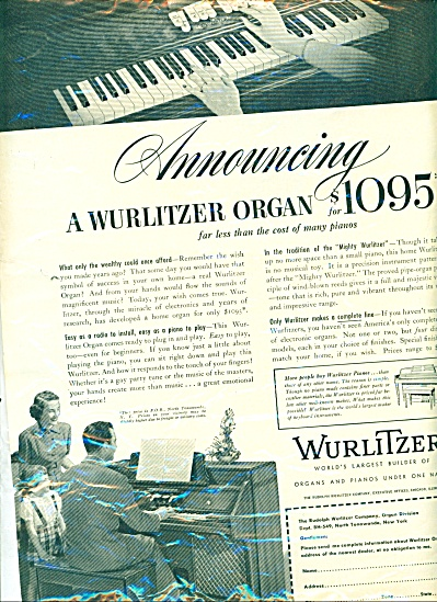 Wurlitzer world' s largest builder of organs (Image1)