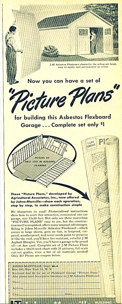 Johns-Manville Asbestos flexboard garage ad (Image1)