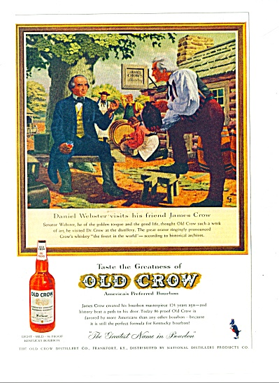 Old Crow Bourbon ad 1959 (Image1)