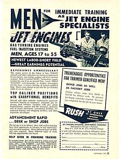 Northwest schools - Jet Engine division ad (Image1)