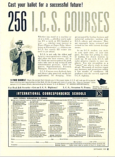 International Correspondence schools ad 1957 (Image1)