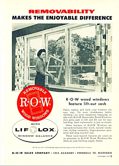 Lift lox window balance ad 1957 (Image1)