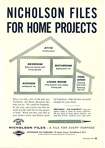 Nicholson Files For Homeprojects Adf 1957