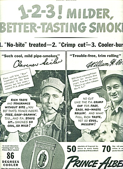 Prince Albert tobacco ad 1941 (Image1)