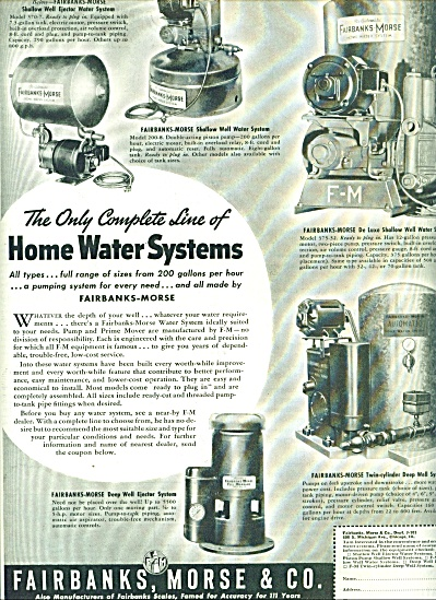 Fairbanks, Morse & Co. - Home Water Systems