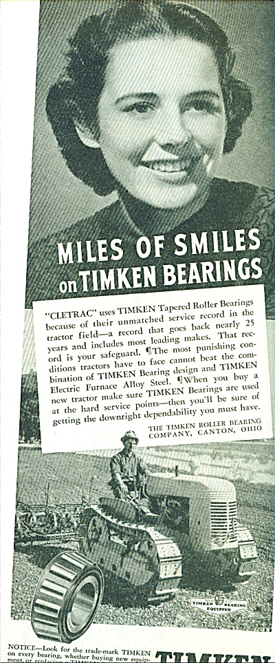 Timken Tapered Roller Bearings Ad 1941