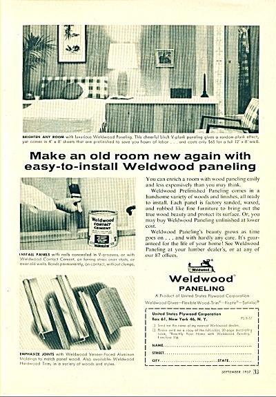 Weldwood paneling ad 1957 (Image1)