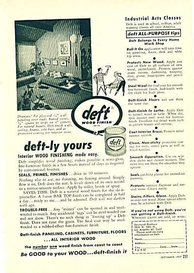 deft wood finish ad 1957 (Image1)