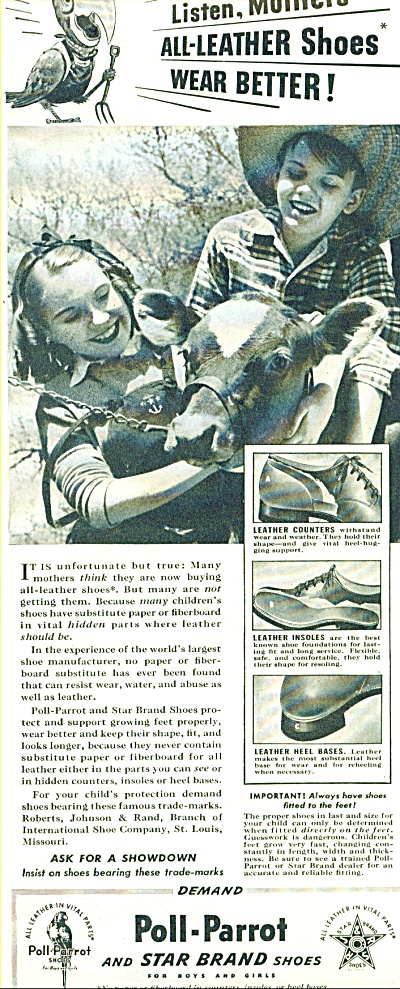Poll-Parrot and Star Brand shoes ad 1941 (Image1)