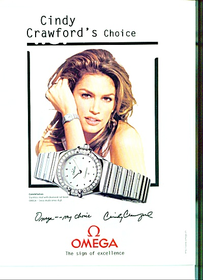 Omega - Cindy Crawford Ad 1999