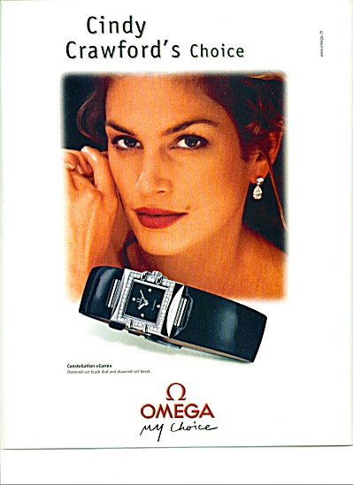 Omega watch - CINDY CRAWFORD  ad 2000 (Image1)