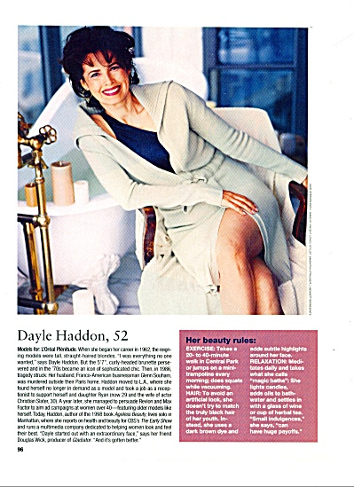 Dayle Haddon - Model Article Expose