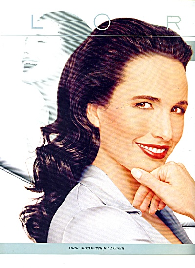 L'Oreal - ANDIE MAC DOWELL  AD 1997 (Image1)