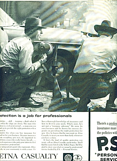 Aetna Casualty insurance co.  ad 1961 (Image1)