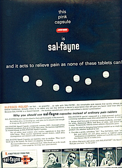 Sal-fayne capsules-fast relief from pain ad (Image1)