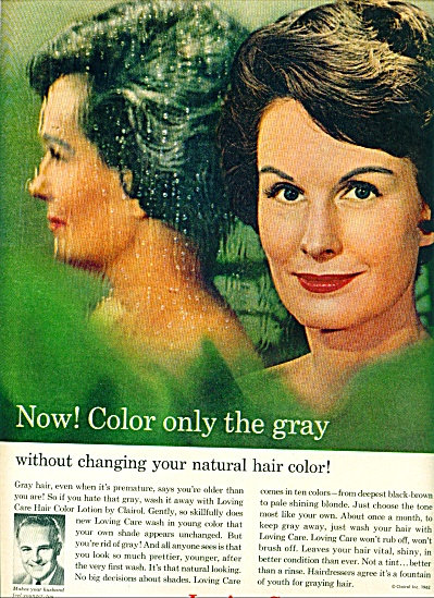 Loving care hair lotion by Clairol ad 1962 (Image1)