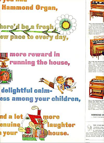 Hammond Organ ad 1962 MORE REWARDS 3 MODELS (Image1)