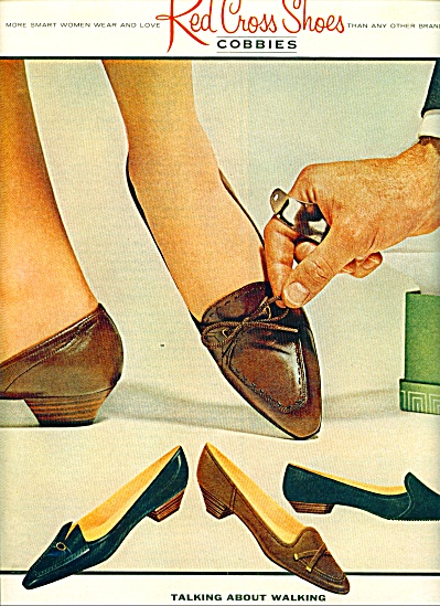 Red Cross shoes - cobbies ad 1962 (Image1)