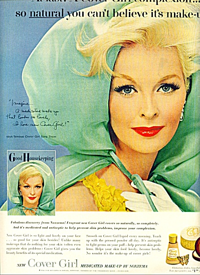 1962 COVER GIRL MODEL SARA THOM NOXZEMA AD (Image1)