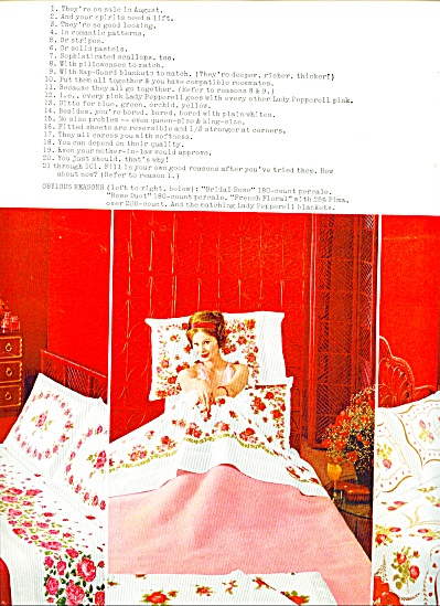 Lady Pepperell Sheets Ad 1962