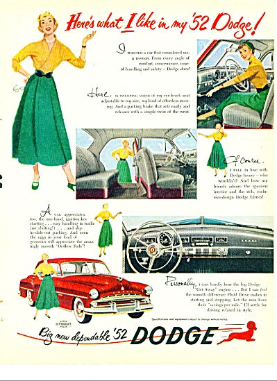 Dodge automobile for 1952 ad (Image1)