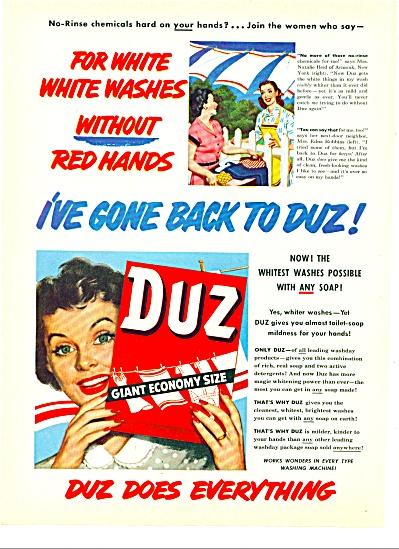 Duz giant ecconomy size soap ad 1951 (Image1)