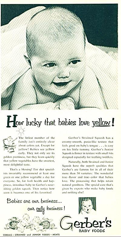 Gerber's baby foods ad 1951 (Image1)