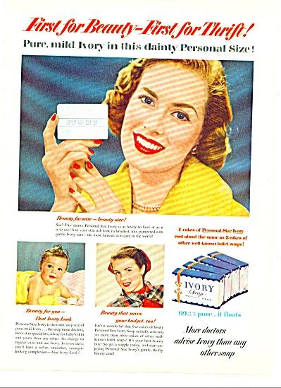 1951 IVORY SOAP AD Beautiful Woman (Image1)