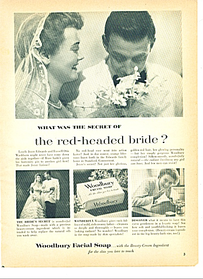 1951 Woodbury Soap AD JOYCE - RUSS EDWARDS OH (Image1)