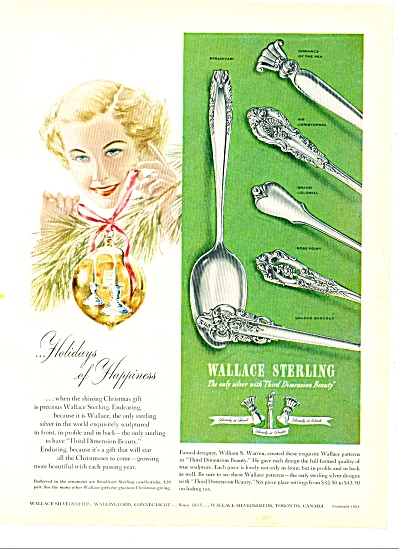 Wallace Sterling Ad 1951