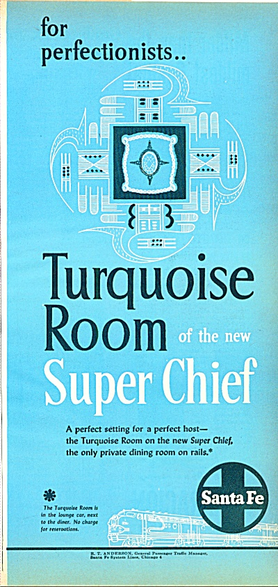 1951  Santa Fe - Turquoise room of the Super (Image1)