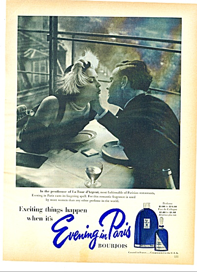 Evening in Paris Bourjois perfume ad 1951 (Image1)