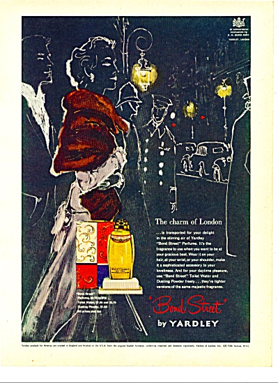 1951 YARDLEY Bond Street ARTWORK AD (Image1)