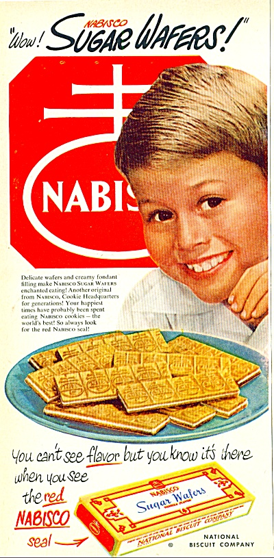 Nabisco sugar wafers ad 1951 (Image1)