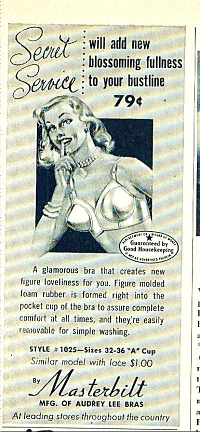 1951 AUDREY LEE MASTERBILT BRA PinUp Girl AD (Image1)
