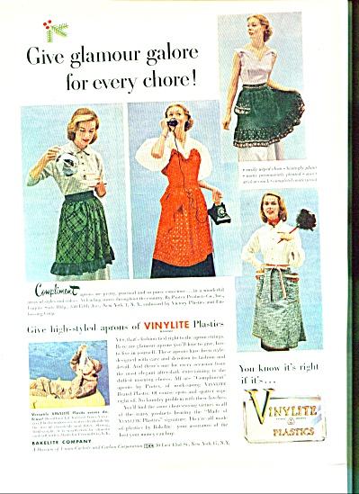 Vinylite plastics aprons ad 1951 (Image1)