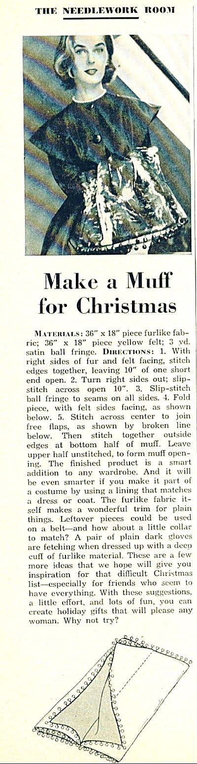 Make a muff for Christmas story 1951 (Image1)