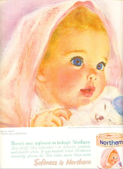 1961 Northern Tissue BABY Beautiful AD (Image1)