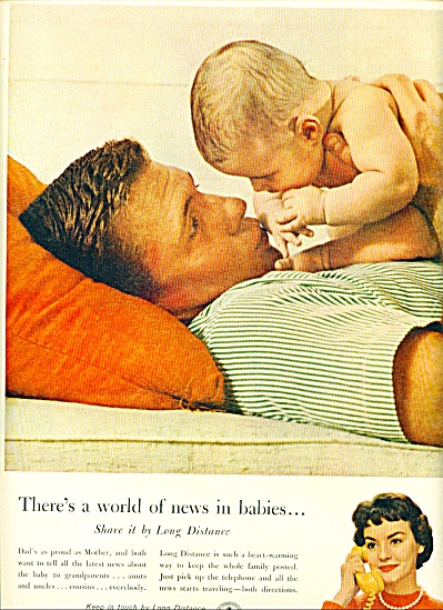 Bell Telephone System ad 1961 BABY AND DAD (Image1)