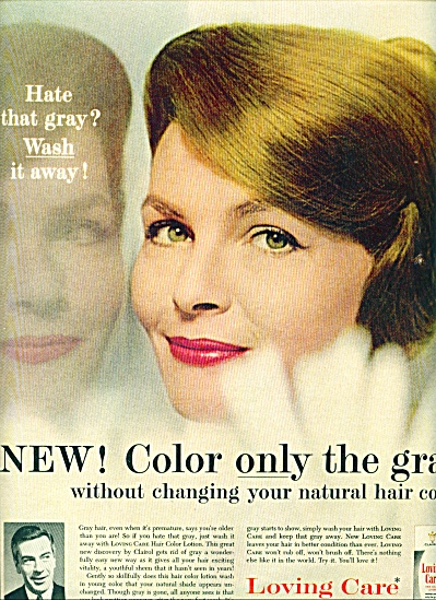 1961 Loving Care hair color lotion by Clairol ad (Image1)