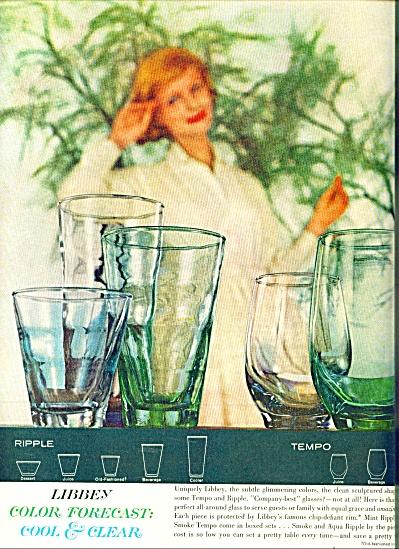 1961 Libbey Glassware AD TEMPO - RIPPLE (Image1)
