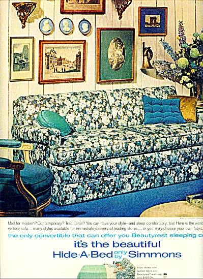 Simmons hide a bed ad 1961 (Image1)