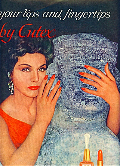 1961 CUTEX Aztec Treasures AD BEAUTY MODELS (Image1)