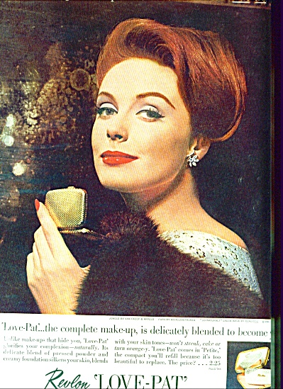 1961 REVLON LOVE PAT Cosmetics Super Model AD (Image1)