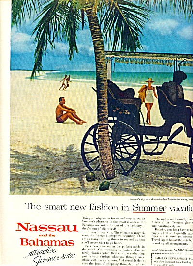 Nassau and the Bahamas vacations ad 1961 (Image1)