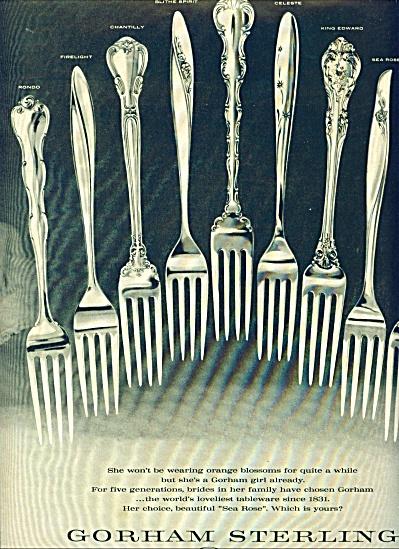 Gorham Sterling ads 1961 (Image1)