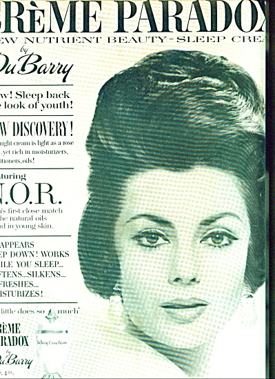 1961 DuBarry Creme PARADOX Beauty Cream AD (Image1)