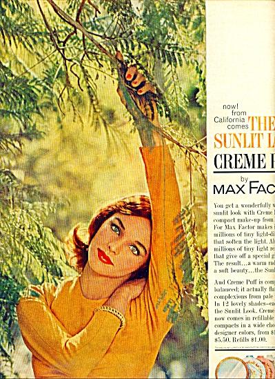 1961 Max Factor Creme Puff AD (Image1)