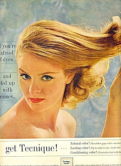 1961 TECHNIQUE HAIR COLOR Tone AD (Image1)
