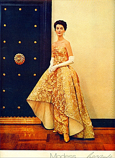 1961 Modess Because.... AD GOLD GOWN (Image1)